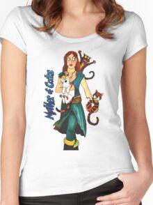 """Skyecatz: """"Mother of Cats"""" Women's Fitted Scoop T-Shirt"""