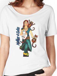 """Skyecatz: """"Mother of Cats"""" Women's Relaxed Fit T-Shirt"""