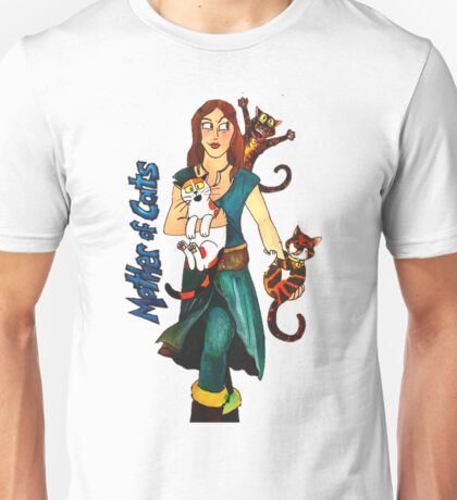 "Skyecatz: ""Mother of Cats"" Unisex T-Shirt"