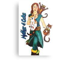 """Skyecatz: """"Mother of Cats"""" Metal Print"""