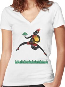 Hanuman's Leap Women's Fitted V-Neck T-Shirt