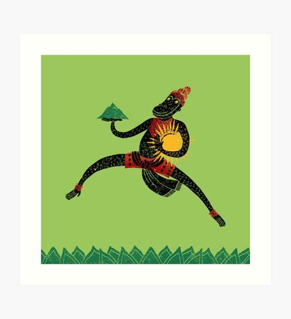 Hanuman's Leap Art Print