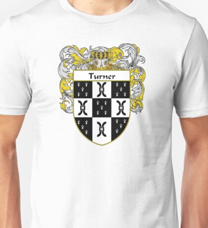 Turner Coat of Arms / Turner Family Crest Unisex T-Shirt