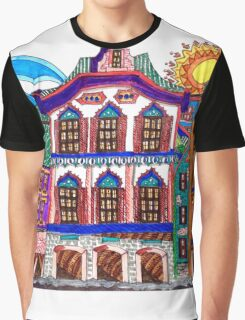 COLORFUL OLD HOMES Graphic T-Shirt