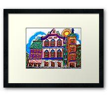 COLORFUL OLD HOMES Framed Print