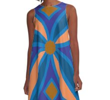 Blue Celtic Pattern A-Line Dress