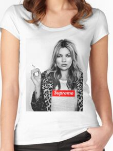 kate moss Women's Fitted Scoop T-Shirt