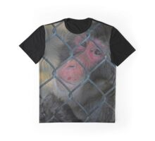 Macaca Fuscata - Male Japanese Macaque Longing To Be Free | Manorville, New York Graphic T-Shirt