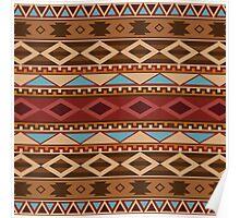 Navajo Native American Pattern Poster