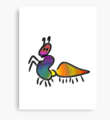 Colourful insect Canvas Print