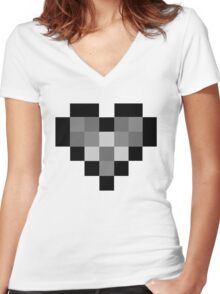 B/W P Women's Fitted V-Neck T-Shirt