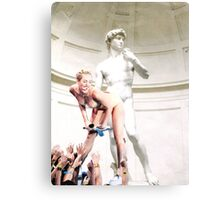 Miley Cyrus and Michaelangelo Canvas Print