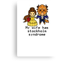 Happy Stolkholm Syndrome Canvas Print