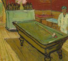 The Night Café by Vincent van Gogh Sticker