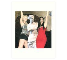 Paris Hilton, Kim Kardashian and Venus de Milo Art Print