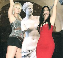 Paris Hilton, Kim Kardashian and Venus de Milo by fraserahwhite