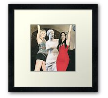 Paris Hilton, Kim Kardashian and Venus de Milo Framed Print