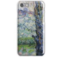 View of Arles, Flowering Orchards by Vincent van Gogh iPhone Case/Skin