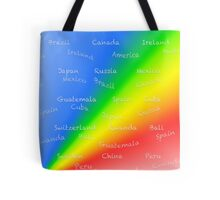 World travel with rainbow Tote Bag