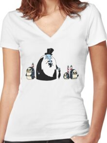 Ice King Crossover Penguin Women's Fitted V-Neck T-Shirt