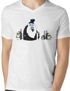 Ice King Crossover Penguin Mens V-Neck T-Shirt