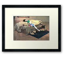 Amy Winehouse and Tracey Emin's Unmade Bed Framed Print