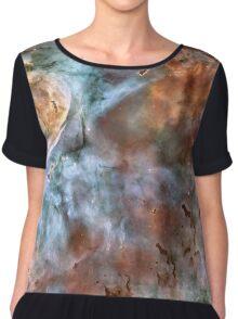 Abstracted Nebula Design Prints Chiffon Top