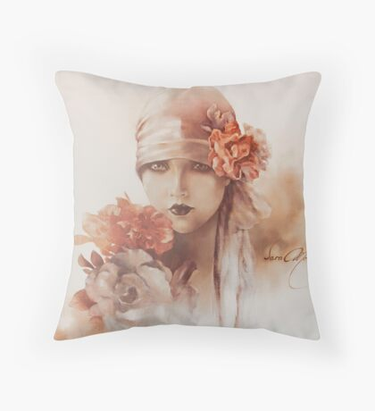 """Claudia"" by Sara Moon Throw Pillow"