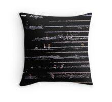 Line Art The Scratch no. 3 Throw Pillow