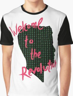Mr Robot: Welcome to the Revolution, Elliot Binary Head Graphic T-Shirt