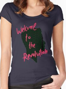Mr Robot: Welcome to the Revolution, Elliot Binary Head Women's Fitted Scoop T-Shirt