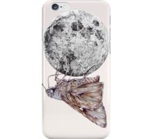 In which a moth is enticed by the light of the moon iPhone Case/Skin