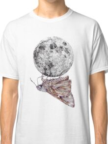 In which a moth is enticed by the light of the moon Classic T-Shirt