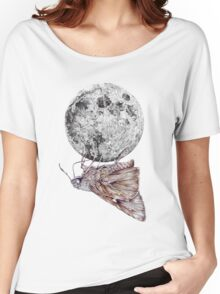 In which a moth is enticed by the light of the moon Women's Relaxed Fit T-Shirt