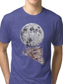 In which a moth is enticed by the light of the moon Tri-blend T-Shirt