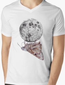 In which a moth is enticed by the light of the moon Mens V-Neck T-Shirt