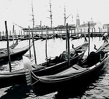 Gondolas Venice by RachelMacht