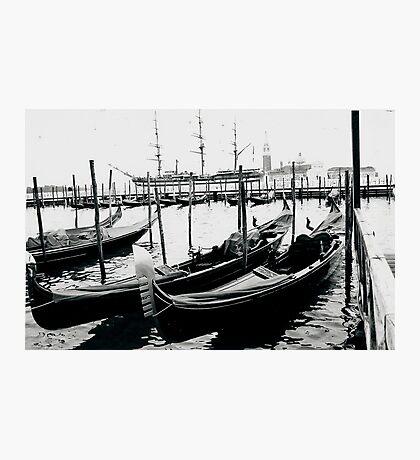 Gondolas Venice Photographic Print