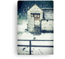 House near the wood Canvas Print