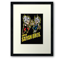 Super Saiyan Bros Framed Print