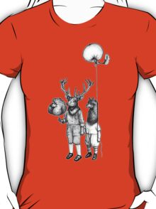 Deerboy and Alpacaboy at the fun fair T-Shirt