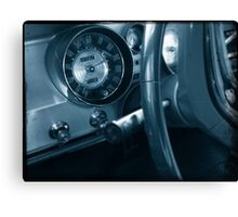 Blue Dash Canvas Print