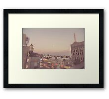 Strawberry Moon Downtown Hollywood Los Angeles Framed Print