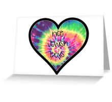 Nice Jewish Boys TieDye Heart Greeting Card