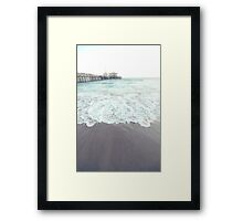 Santa Monica Surf  Framed Print