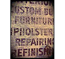 Upholstry Repair Photographic Print