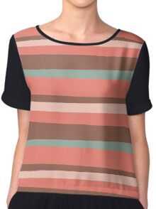 Lines and colors Chiffon Top