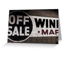 Off Sale Wine Greeting Card