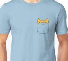 Pocket Cat - Orange Unisex T-Shirt