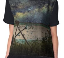 At Peace, Far from Home Chiffon Top